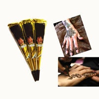 1PC Black Herbal Henna Cones Temporary Tattoo Body ART INK HINA KIT Mehandi