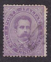Italy - 1879 - 50c mauve - SG36 Used (C12B)