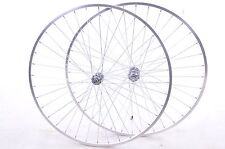 "RACER/ROAD BIKE 27""x1 1/4"" POLISHED ALLOY ""CHROME LOOK "" MULTI-SPEED WHEEL SET"