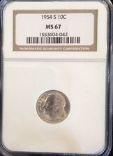 1954 S Roosevelt Dime NGC MS 67