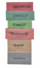 120 ASSORTED MIXED COIN OLD STYLE FLAT WRAPPERS