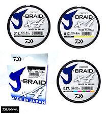 New Daiwa J-Braid X4 Fishing Line 135m Spool - All Colours & Breaking Strains
