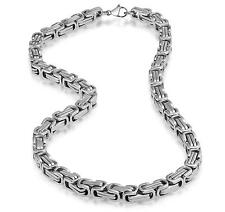 Impressive Tera Mechanic Style Necklace Stainless Steel Silver Chain