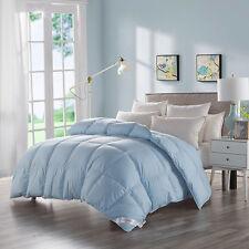 Luxury 100% Goose Down Blue Bedding Comforter Egyptian Cotton Soft, King Size