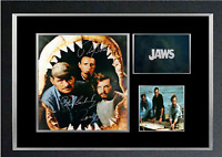 JAWS MOVIE AUTOGRAPHED MOUNTED PRINT