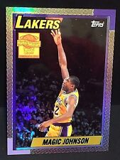MAGIC JOHNSON 2000-01 Topps Chrome REFRACTOR Reprint INSERT Card #8 SP Lakers
