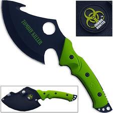 Zombie Killer Hunter Tracker Knife Guthook Survival Axe SHARP! Hi-Vis Green