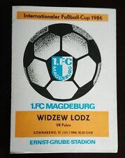 Programm 1.FC Magdeburg Widzew Łódź  IFC Cup 12.7.86 DDR Polska Polen program
