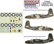 RAAF Boston III & A-20G Havoc Decals 1/72 Scale N72018