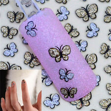 2 Sheets 3D Butterfly Nail Art Stickers Decals For Nail Tips Decor Shiny DIY HOT