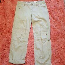 Magellan Sportswear Sz 10 Cargo Pants Womens Beige Soft Convertible Leg Shorts