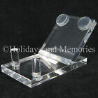 Glass Eye Studio Acrylic Clear Tilt Paperweight  Art Display Stand 972