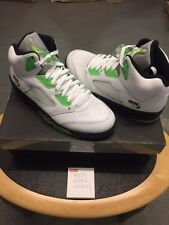 Nike Air Jordan 5 Quai 54 Retro 2011 Blanco/Verde Uk 9 EE. UU. 10 Nuevo