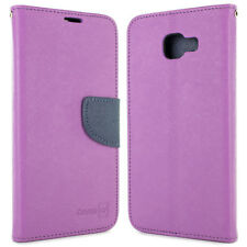 Purple / Navy Flip Wallet Cover Case For Samsung Galaxy A7 2016 A710 + Screen