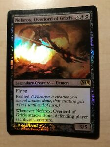 MTG Magic the Gathering - Nefarox Overlord of Grixis - Foil - M13 - LP