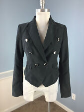 GUESS S 4 Black Blazer Majorette Jacket Excellent Career Cocktail