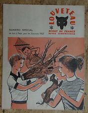 LOUVETEAU / REVUE SCOUT DE FRANCE - Vacances été 1957 / SCOUTISME