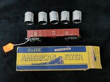 AMERICAN FLYER 916 D & H GONDOLA WITH CANISTER LOAD IN ORIGINAL BOX MINT