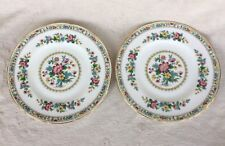 """2 X FOLEY MING ROSE 8"""" STARTER/BREAKFAST/SALAD PLATES VERY GOOD CONDITION"""