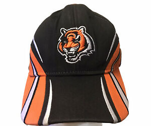 YOUTH Cincinnati Bengals Baseball Cap Stretch Fit Hat NFL Equipment Reebok