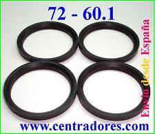 4 CENTRADORES DE LLANTA 72-60.1 BAGUES CENTRAGE RENAULT MEGANE SCENIC CLIO DACIA
