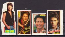 ROB LOWE 4 RARE BRAVO VINTAGE OLD STICKERS MUSIC R16160b