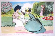 """KEES VAN DONGEN Hand Signed 1950 Original Color Lithograph - """"Dans la Parc"""""""