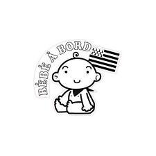 Autocollant sticker Bébé à Bord Bretagne Breizh Breton logo 1 17 cm