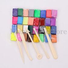 Oven Bake Polymer Clay Block Moulding Modelling Sculpey Tool Set 5 Tool 32 Color