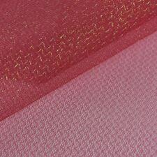 Faschingsstoff Tüll Glitzertüll rot Glitzer 1,5m Breite