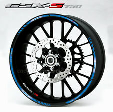 GSX-S750 motorcycle wheel decals suzuki gsxs 750 blue stripes rim stickers set