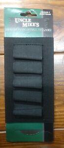 Uncle Mike's Shotgun Buttstock Shell Holder Holds 5 Shells Black - 8849-1