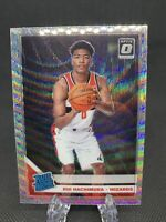 Rui Hachimura 2019-20 Donruss Optic Rated Rookie Silver Holo Wave Prizm Fanatics