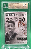 2015-16 Excalibur Giannis Antetokounmpo Team 2020 SILVER /70 🏦 BGS 9.5 True GEM