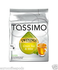 Tassimo Twinings Green Tea and Mint  Tea- Pack of 5 80 T disc / Servings