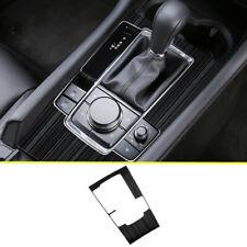 Fit For Mazda 3 Axela 2019 2020 Black titanium Gear Shift Box Panel Frame Trim