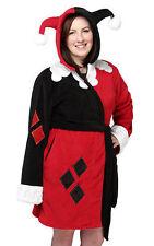 Harley Quinn Ladies' Fleece Robe Batman Joker Comic Book Costume Womens Size S/M