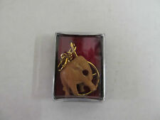 Small Hand Carved Made in India Elephant Keychain in Plastic Display Case