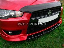 Mitsubishi Lancer X 2007-2016 front bumper central lip spoiler abs