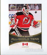 Martin Brodeur 2010/11 Upper Deck All World Team # AW-35 carte NHL Hockey