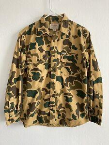 Filson Field Flannel Men's M Camouflage Camo Long Sleeve Shirt Light Shrub