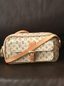 LOUIS VUITTON Gray Monogram Mini Lin Canvas Juliette Crossbody Bag  TH1000