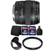 Canon EF 85mm f/1.8 USM Lens with Accessories for Canon SLR Cameras