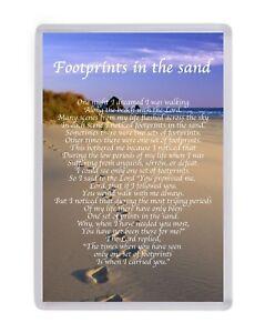 Personalised Footprints In The Sand Fridge Magnet Birthday Present Christmas