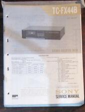 Sony TC-FX44B registratore a cassette Servizio di Riparazione Officina Manuale (copia originale)