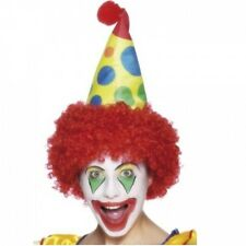 Childs Clown Soft Fancy Dress Costume HAT with WIG  Funny Circus Coco