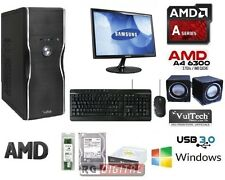 "PC DESKTOP AMD A4-6300 X2 3,7GHZ HD 1TB/RAM 8GB MONITOR SAMSUNG 22"" + COMPLETO"