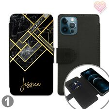 Personalised Leather Flip Stand Wallet Case For Apple Samsung iPhone 252