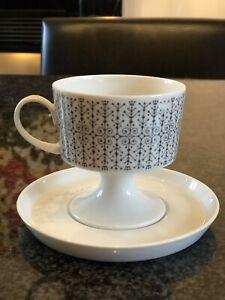 "Rosenthal Secunda Grau ""B"" Kaffeegedeck Teller Tasse (3x vorhanden)"
