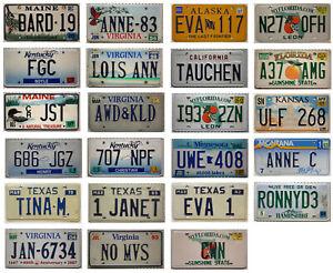 -1- USA Nummernschild Vanity License Plate oder Namen Schild / Auto-Kennzeichen